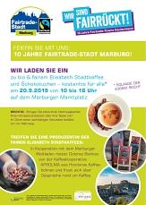 Die Fairtrade-Stadt Marburg feiert am Freitag, 20. September, ihr zehnjähriges Jubiläum und lädt ein: zu fairem Kaffee und Schokokuchen.©Universitätsstadt Marburg