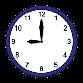 Bild von einer Uhr, die 9 Uhr anzeigt©Lebenshilfe für Menschen mit geistiger Behinderung Bremen e.V,, Illustrator Stefan Albers, Atelier Fleetinsel, 2013