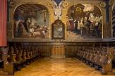 Foto von der Alten Aula mit Gemälde©Farnung, Philipps-Universität Marburg