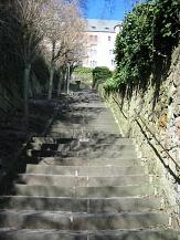 Bickelltreppe mit Blick auf das Schloss©Marburg Tourismus und Marketing