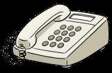Bild von einem Telefon©Lebenshilfe für Menschen mit geistiger Behinderung Bremen e.V., Illustrator Stefan Albers, Atelier Fleetinsel, 2013