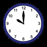 Bild von einer Uhr, die 10 Uhr anzeigt©Lebenshilfe für Menschen mit geistiger Behinderung Bremen e.V., Illustrator Stefan Albers. Atelier Fleetinsel, 2013