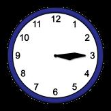 Bild von einer Uhr, die 15.15 Uhr anzeigt©Lebenshilfe für Menschen mit geistiger Behinderung Bremen e.V., Illustrator Stefan Albers, Atelier Fleetinsel, 2013
