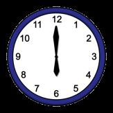 18 Uhr, Symbol für Uhr©Lebenshilfe für Menschen mit geistiger Behinderung Bremen e.V., Illustrator Stefan Albers, Atelier Fleetinsel, 2013