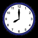 Bild von Uhr, die 8 Uhr anzeigt©Lebenshilfe für Menschen mit geistiger Behinderung Bremen e.V., Illustrator Stefan Albers, Atelier Fleetinsel, 2013