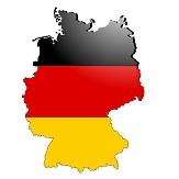 Bild von der Fläche von Deutschland in schwarz, rot, goldenen Streifen©Pixabay