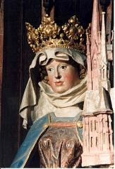 Französische Schnitzfigur der Heiligen Elisabeth©Stadt Marburg, Erhart Dettmering