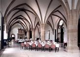Fürstensaal im Landgrafenschloss Marburg, Bankettbestuhlung©Marburg Tourismus und Marketing