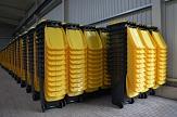 gelbe Tonne, Lager für gelbe Tonnen©Stadtwerke Marburg