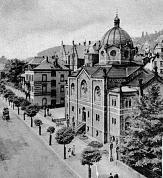 Historische Ansicht der ehemaligen Synagoge in der Universitätsstraße©aus Postkartensammlung Klages, Marburg