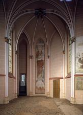 Kapelle im Landgrafenschloss mit Wandmalerei und historischem Boden©Bildarchiv Foto Marburg