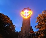 Leucht-Herz am Spiegelslust-Turm©Georg Kronenberg