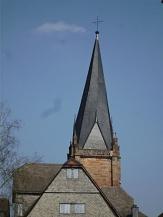 schiefer Turm der Pfarrkirche©Kerstin Hühnlein