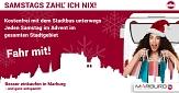 Samstags zahl ich nix!©Universitätsstadt Marburg