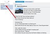 """Screenshot von der Seite Stadt-Informationen mit Pfeil auf den Navigationspunkt """"Das ist Marburg""""©Universitätsstadt Marburg"""
