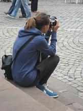 Touristin in Marburg©Kerstin Hühnlein