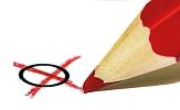 Bild mit einem roten Stift, mit dem gerade ein Kreuz in einem Kreis gemacht wurde©Pixabay
