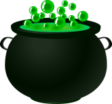 Schwarzer Kessel, in dem eine grüne Flüssigkeit blubbert©Pixabay